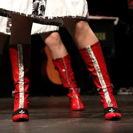 Kinky Boots by Morgan Berk - Artistic Objects Clothing & Accessories ( red, musical, theatrical showcase, theatre, kinky boots, boots, artistic, object )