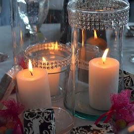 Wedding candles - Mackinaw Island by Gaynel . - Wedding Reception