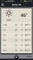 Screenshot of iMap Weather Radio