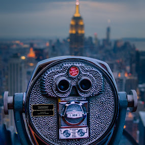 Top Of The World by Pope  Africanas - City,  Street & Park  Skylines ( manhatten, top of the rock, nyc )