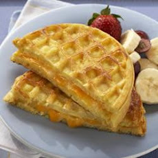 Egg and Cheese Waffle Sandwich
