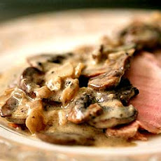 Pork Roast with Cardamom Mushroom Sauce