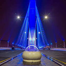 PUTRAJAYA WAWASAN BRIDGE  by Andy Teoh - Buildings & Architecture Bridges & Suspended Structures ( putrajaya, bridge, nightscape, wawasan, andyteoh photography )