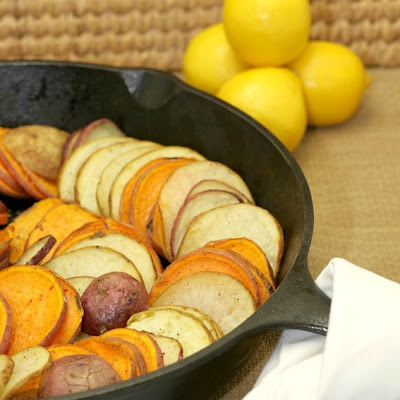 Skillet Roasted Lemon Pepper Potatoes