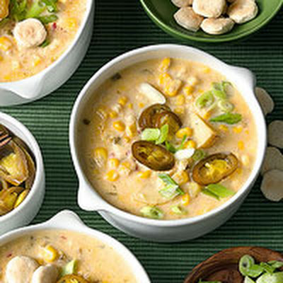 Corn Chowder with Jalapeno Peppers