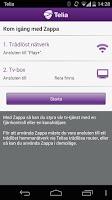 Screenshot of Tv från Telia, Zappa