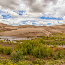Great Sand Dunes by Michael Buffington - Landscapes Deserts ( national park, sky, sand dunes, colorado, foreground )