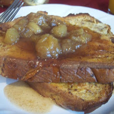 Overnight Ice Cream French Toast With Cinnamon Banana Syrup