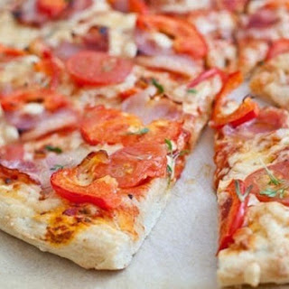 Pizza With Tomato And Bacon