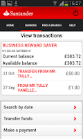 Screenshot of Business Banking