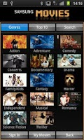 Screenshot of Samsung Movies