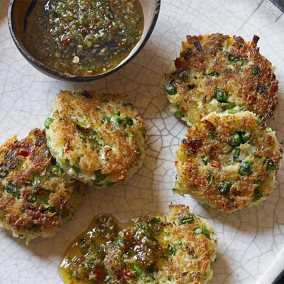 Crab Cakes With Sweet Chilli & Ginger Dipping Sauce