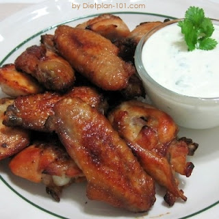 Baked Buffalo Wings with Blue Cheese Dip (for Atkins Diet Phase 1)