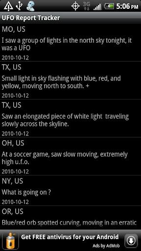 UFO Report Tracker