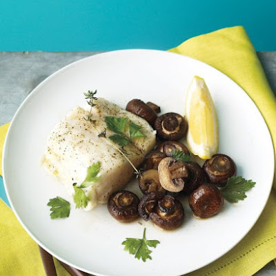 Oven-Roasted Fish and Mushrooms
