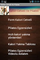 Screenshot of Kalori Cetveli Ve Pilates