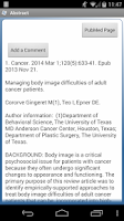 Screenshot of PubMed Mobile