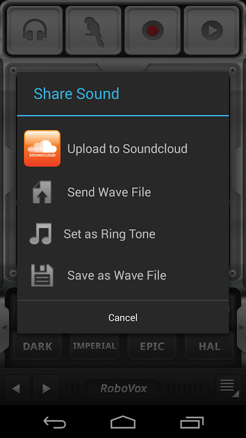 RoboVox Voice Changer Pro Screenshot 1