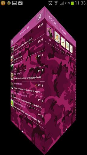 【免費個人化App】GO SMS PRO Pink Army Camo-APP點子