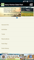 Screenshot of TN State Parks Outdoor Guide