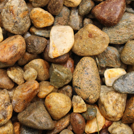 Random Rocks by Lauren Margraves - Nature Up Close Rock & Stone ( nature, wet, stones, neutral, rocks )