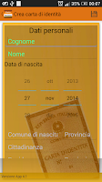 Screenshot of Carta di identità
