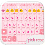 Pink Rose Emoji Keyboard Theme 1.3.1 Apk