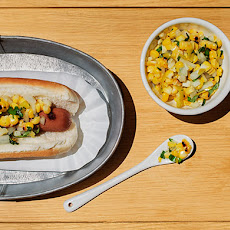 Charred Corn and Pepperoncini Relish with Basil