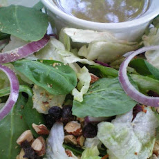 Mixed Greens with Dried Cranberries and Toasted Pecans