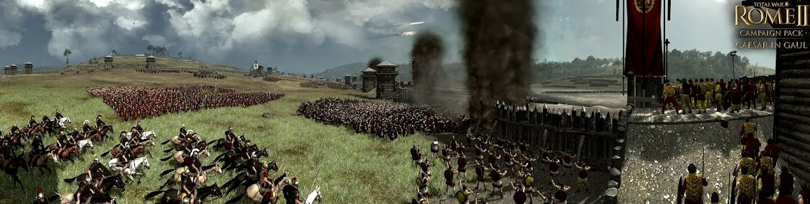 Creative Assembly releases a panoramic shot of Total War: Rome II's Battle Of Alesia