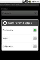 Screenshot of Conversor de unidades