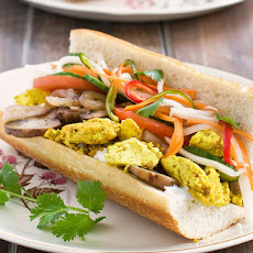 Scramble Tofu Breakfast Bahn Mi