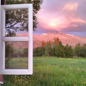 by Ann-Inger Babben Aasen - Landscapes Mountains & Hills ( hills, mountain, hdr, window, landscape )