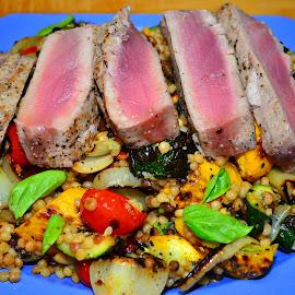 grilled fresh tuna by Mary Smiley - Food & Drink Plated Food ( tuna,  )