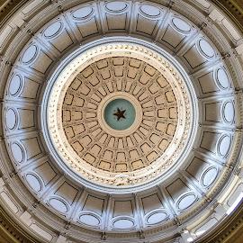 Texas Rotunda by Lou Plummer - Abstract Patterns ( austin, lone star, rotunda, texas, star )