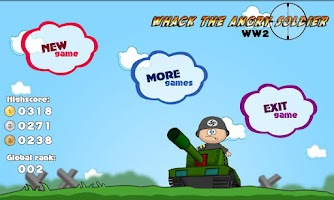Screenshot of Whack the Angry Soldier WW2