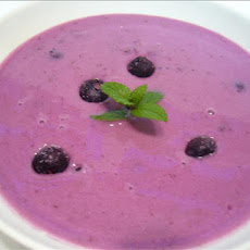 Chilled Czech Blueberry Soup (Boruvkova Polevka Studena)