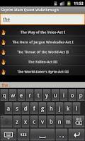 Screenshot of Skyrim Pocket Walkthrough