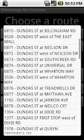 Screenshot of Mississauga Bus Schedule