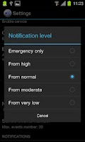 Screenshot of RSOE EDIS Notifier Lite