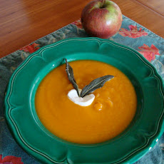 Lightly Curried Sweet Potato, Carrot, and Apple Soup
