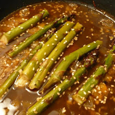 Orange-Ginger-Sesame Asparagus