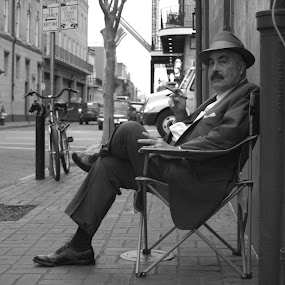 The French Quarter by Paul Hopkins - Black & White Street & Candid ( , Travel, People, Lifestyle, Culture )