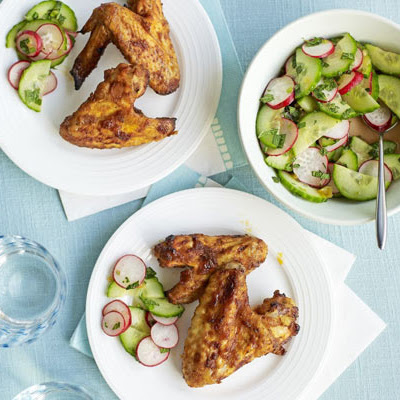 Sweet & Spicy Wings With Summer Slaw