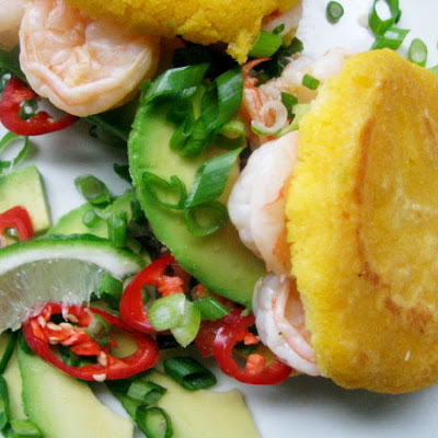 Sunday Brunch: Shrimp Arepas