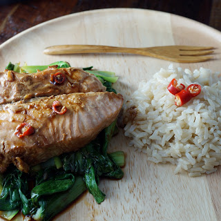 Soy Ginger Salmon and Bok Choy