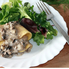 Mushroom and Fennel Crepes
