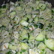 Lemon Orzo Salad With Zucchini And Fresh Herbs