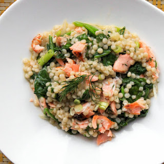 Warm Couscous Salad With Salmon and Mustard-Dill Dressing