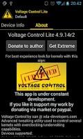 Screenshot of Voltage Control